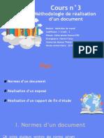 Cours n°4  Méthodologie de réalisation d'un document