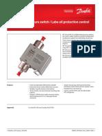Differential Pressure Switch_Oil Control
