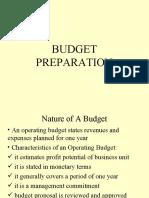 chap 9 budget preparation