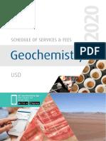 ALS Geochemistry Fee Schedule USD
