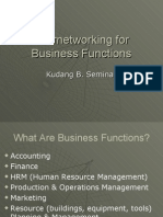 Internetworking for Business Functions