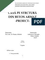 CASĂ PE STRCTURĂ DIN BETON ARMAT