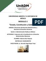 ACTIVIDAD 2 Injerencia de La Constitución en El Derecho Administrativo Mexicano