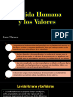 La vida Humana y los valores