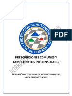 2019 Prescripciones Comunes y Campeonatos FIASCT