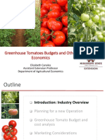 CANALES - Greenhouse Tomatoes Budgets and Other Economics