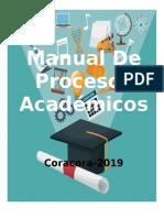 MANUAL DE PROCESOS ACADEMICOS 2019