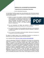 Conceptos generales de Matemáticas financiera