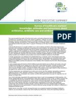 Summary HCWs knowledge attitudes and behaviours about antibiotics