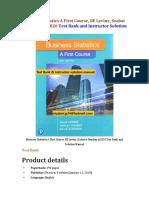Business Statistics A First Course, 8E Levine, Szabat & Stephan ©2020 Test Bank