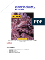 An Introduction to Brain and Behavior 6th Bryan Kolb Test Bank