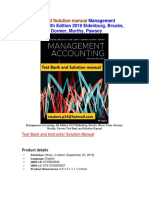 Management Accounting, 4th Edition 2019 Eldenburg, Test Bank