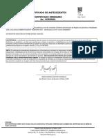 Certificado PROCURADURIA AMBIENTALMENTE