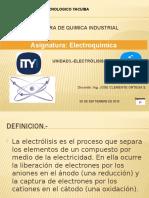 Unidad 3 ELECTROLISIS