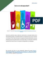 Que es la discapacidad