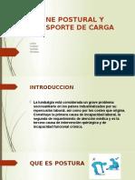 HIGIENE POSTURAL Y TRANSPORTE DE CARGA EN LOS