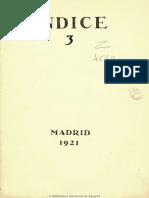 Índice (Madrid. 1921). 1921, n.º 3