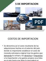 COSTOS DE IMPORTACION
