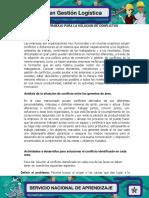 Evidencia 7 Agenda de trabajo Solucion de conflictos