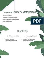 Secondary Metabolism Part 1