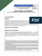Bitácora Diaria de Eventos del 01 de abril de 2020