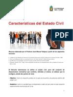 Características del estados civil