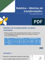 Robótica – Matrizes de Transformações