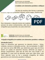 Desenho técnico em Eletricidade - Projeção ortográfica de modelos com elementos paralelos e obliquos.pdf