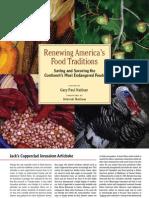 Jerusalem Artichokes From Renewing America's Food Traditions