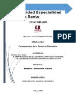 ENSAYO IMPORTANCIA D ELA GERENCIA EDUCATIVA