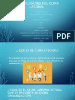 GENERALIDADES DEL CLIMA LABORAL