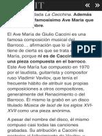 El Ave Maria de Caccini... no es de Caccini. - LOFF.IT