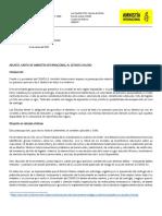 Carta Amnistía Internacional al Estado Chileno