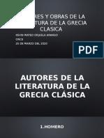 Autores y obras de la literatura de la antigua grecia