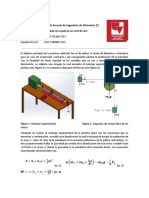 Informe de experimentación de física-Carril de aire