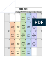 april remote learning schedule
