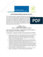 Social Responsibility Calendar for JCCs May - July