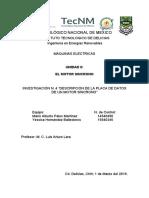 Descripción de la placa de datos de un motor síncrono