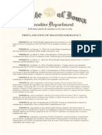 Public Health Disaster Proclamation - 2020.04.02