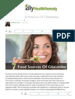 7 Essential Food Sources Of Glutamine _ DIY Health Remedy