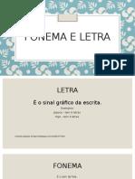 Fonema e letra