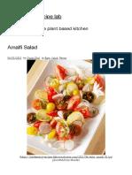 Amalfi Salad _ fresh energy recipe lab
