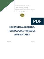 Hidráulica rural o agrícola