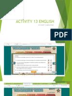 ACTIVITY 13 ENGLISH