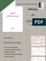 Aula 5 Calibração de métodos