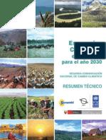 Escenarios climaticos en el Peru para el año 2030. Resumen técnico