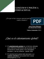 Cambio climático y Política Internacional