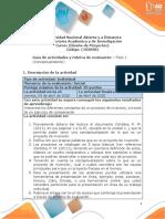 Guía de Actividades y Rúbrica de Evaluación - Unidad 1- Fase 1 - Conceptualización