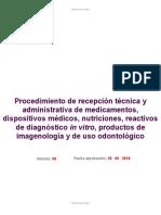 PROCEDIMIENTO RECEPCION TECNICA DE MEDICAM DM REACTIV Y PRODUCTOS  V07 - BORRADOR.doc