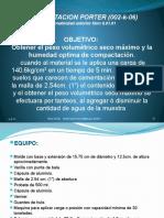 2.1 Peso volumétrico seco máximo de laboratorio (Porter).pptx